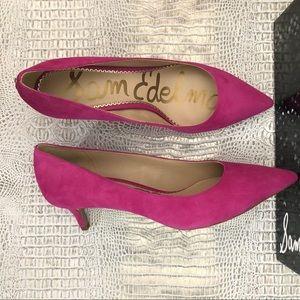 fa8b857c3c Sam Edelman Shoes - Sam Edelman Women's Dori Retro Pink Suede Heels